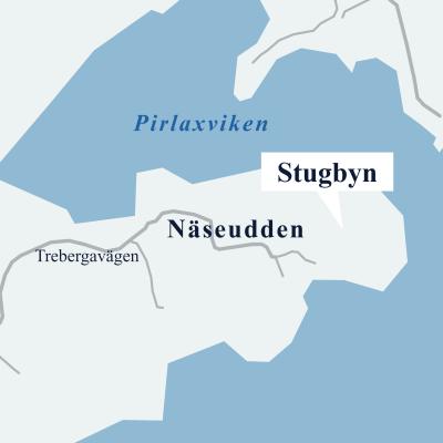 Karta över Näseudden.