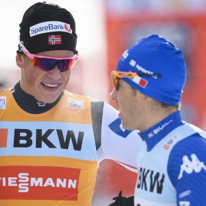 Johannes Hösflot Kläbo och Federico Pellegrino.