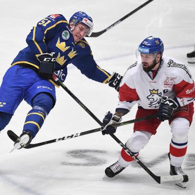 Emil Sylvegård och Milan Gulas i den svenska EHT-turneringen 2019.