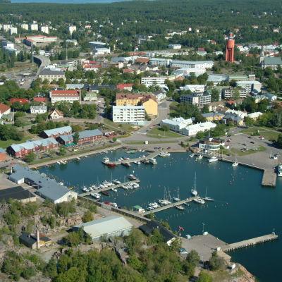 foto över östra hamnen i Hangö.