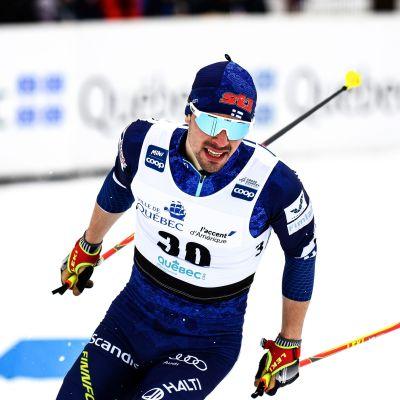 Ristomatti Hakola var bästa finländare i sprinten  i Quebec.