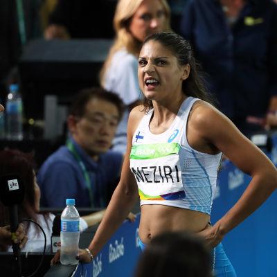 Nooralotta Neziri intervjuas vid OS i Rio.