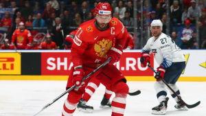 Den ryska lagkaptenen Ilja Kovaltjuk i kvartsfinalen mot USA: