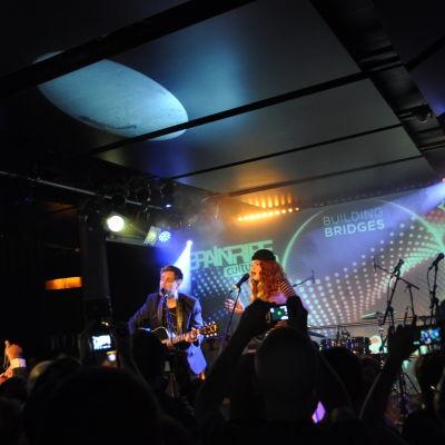 Norges Eurovisionsartister Morland och Debrah Scarleett.