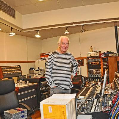 Janne Hansson i Atlantis studion som en gång i tiden hette Metronome.