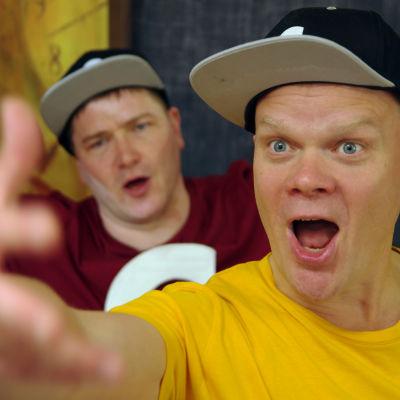 Skådespelarna CG Wentzel och Oskar Silén