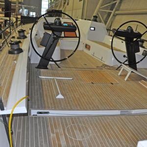 sittbrunnen på Swan 50-båt på båtmässan i Helsingfors