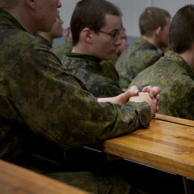 Beväringar på skolning, Nylands Brigad