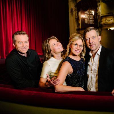 Gruppbild med Mårten Svartström, Sonja Kailassaari, Eva Kela och Riko Eklundh.
