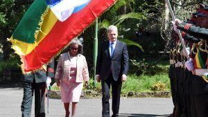 Presidenterna Sauli Niinsiö och Sahle-Work Zewde i Addis Abbeba, Etiopien 15.10.2019