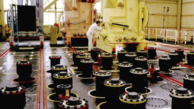 Vy inifrån ett kärnkraftverk