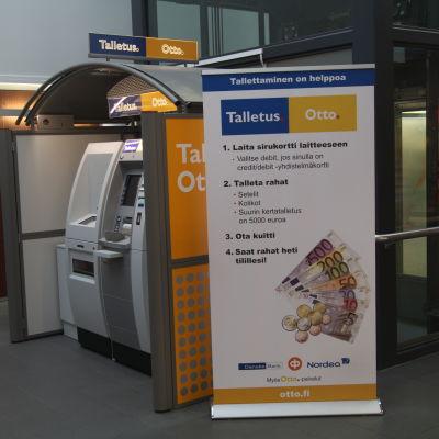 OttoTalletus-automat i Rewell Center i Vasa