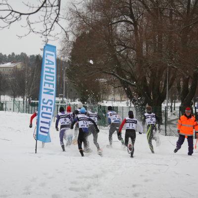 Vintertriathlon i Lahtis 14.2.2015