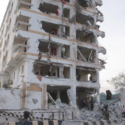 Lyxhotellet Jazeera efter attacken den 26 juli 2015.