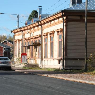 Järnhandeln vid Borgås gamla järnvägsstation