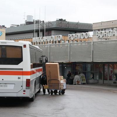 Busstationen i Borgå