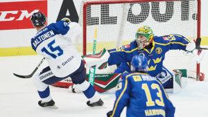 Finland mot Sverige i EHT-turneringen i Malmö.