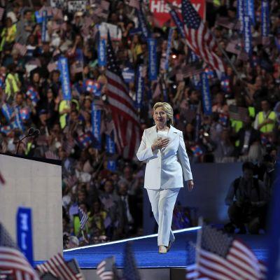 Hillary Clinton under demokraternas partikonvent 2016.