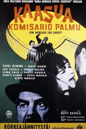 Kaasua komisario Palmu. Elokuvan juliste.