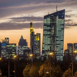 ECB:s huvudkontor i Frankfurt