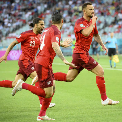 Haris Seferovic satte 1–0 mot Turkiet.