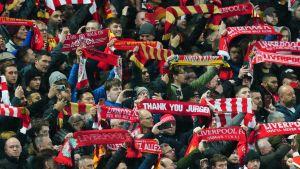 Liverpool-fans på Anfield.