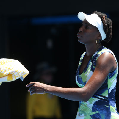 Venus Williams i matchen mot Johanna Konta i Australiska öppna 2016.