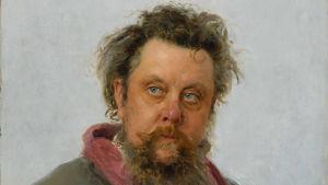 Ilja Repins porträtt av kompositören Modest Mussorgskij.