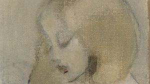 Helene Schjerfbeckin maalaus Annuli lukee.