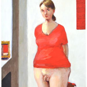 Bild av kvinna med penis.