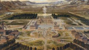 Le Château de Versailles en 1668; huile sur toile, château de Versailles