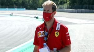 Sebastian Vettel på Monzabanan i Italien.