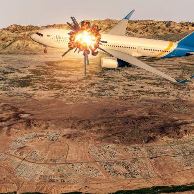 Det ukrainska passagerarplanet med 176 personer ombord träffades av en iransk luftvärnsmissil kort efter att ha lyft från Teheran