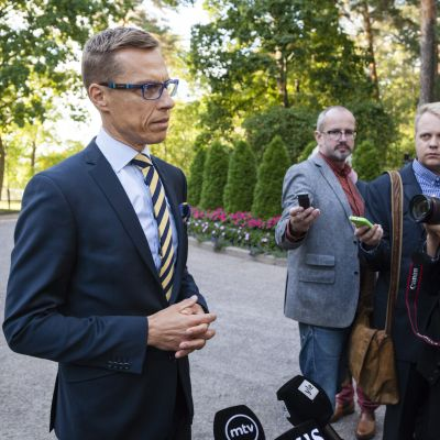 Statsminister Alexander Stubb kommenterar De grönas hot om att lämna regeringen 15.9.2014