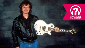 Jimmy Page med elgitarr.