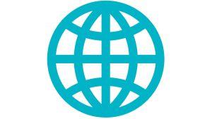 Symboli-kuva, jossa maapallo.