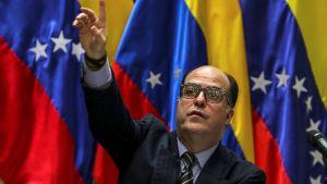Julio Borges, talman i Nationalförsamlingen i Venezuela.