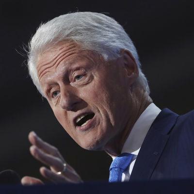 Bill Clinton under demokraternas partikonvent i Cleveland.
