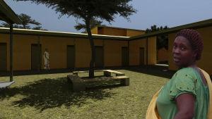 KWIECO turvatalo, rakennuksen sijainti Moshi, Tansania.