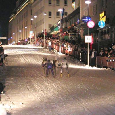 Porojen katuajot Rovaniemellä
