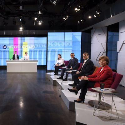 Deltagarna i Yles valdebatt den 14 mars 2019