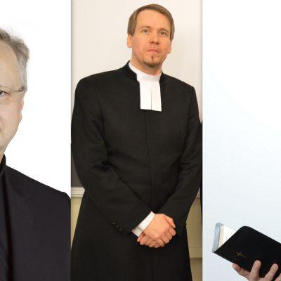 Tornion kirkkoherranvaaliehdokkaat Pentti Tepsa, Tuomas Palola ja Ville Väkeväinen