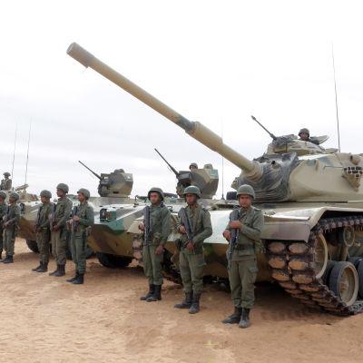 """Tunisien har byggt upp ett 200 kilometer långt """"antiterrorstängsel""""  för att förhindra infiltration från Libyen"""