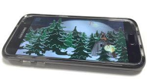 Mobiltelefon som visar video