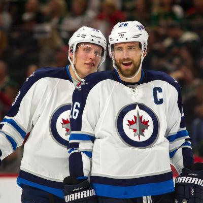 Patrik Laine och Blake Wheeler, Winnipeg Jets, hösten 2016.