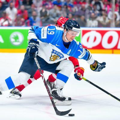 Veli-Matti Savinainen i VM-turneringen 2019.