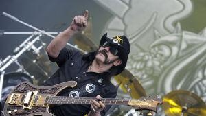Lemmy Kilmister på en festival i Österrike sommaren 2011.