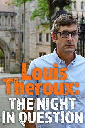 Louis Theroux poseeraa rakennuksen edessä.