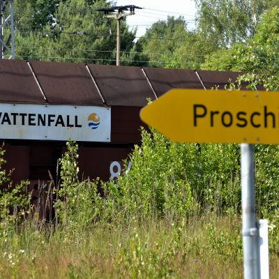 Vattenfalls brunkolsgruva i Lausitz