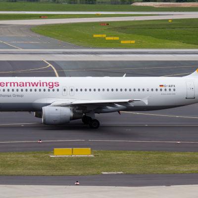 Airbus A320, samma plantyp som kraschade i södra Frankrike.